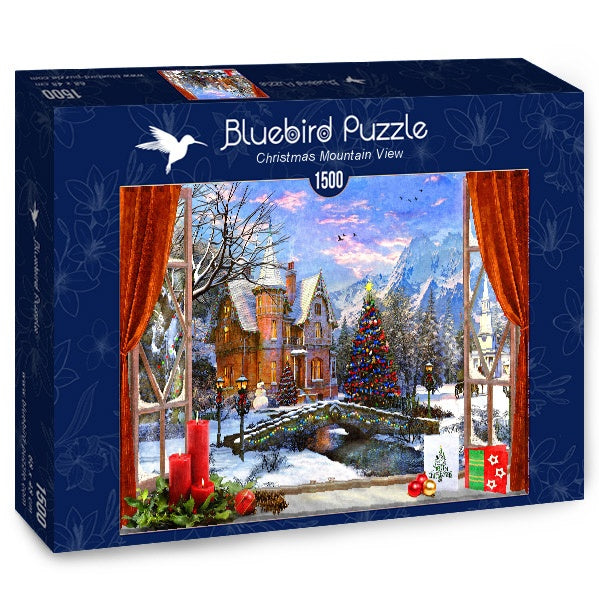 Bluebird Christmas Mountain View 1500 Piece Jigsaw Puzzle - Get Puzzled