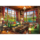 Bluebird Mount Cabin View 1000 Piece Jigsaw Puzzle - Get Puzzled