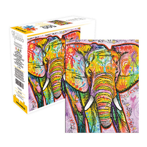 Aquarius Dean Russo Colourful Elephant 500 Piece Jigsaw Puzzle - Get Puzzled