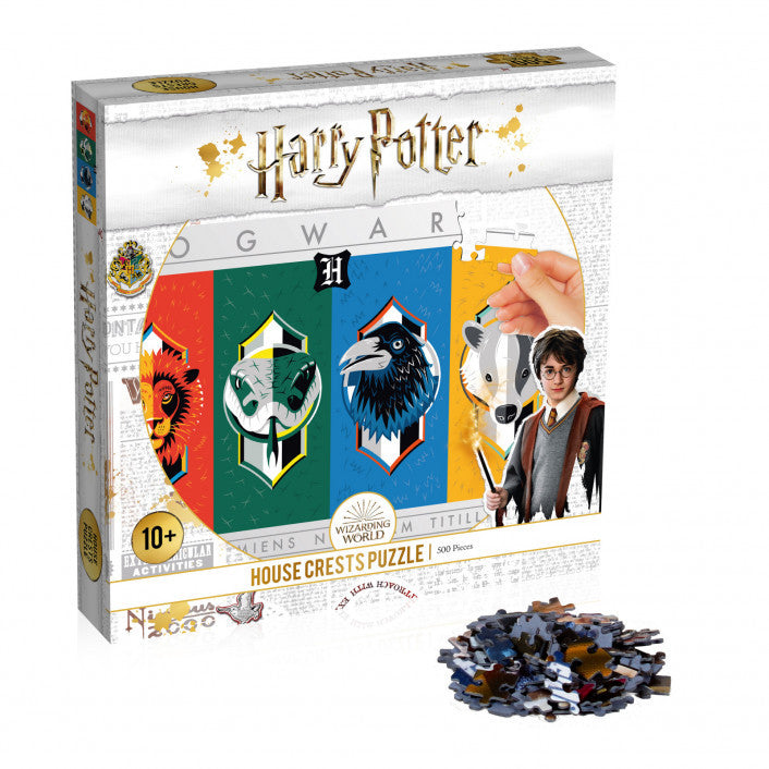 Harry Potter House Crests Puzzle 500 Piece Jigsaw Puzzle - Get Puzzled