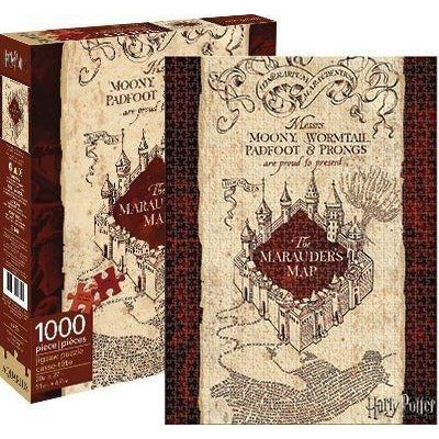 Aquarius Harry Potter Marauders Map 1,000 Piece Jigsaw Puzzle - Get Puzzled