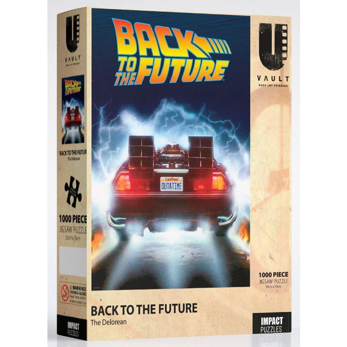 Impact Puzzle Back to the Future the Delorean Puzzle 1000 Piece Jigsaw Puzzle - Get Puzzled