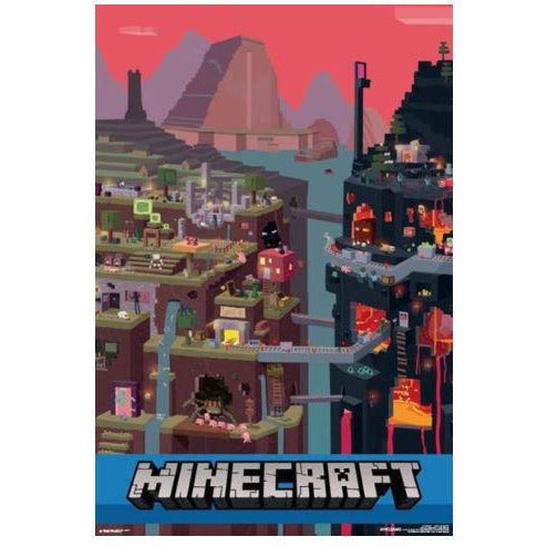 Impact Puzzle Minecraft World Red 1000 Piece Jigsaw Puzzle - Get Puzzled