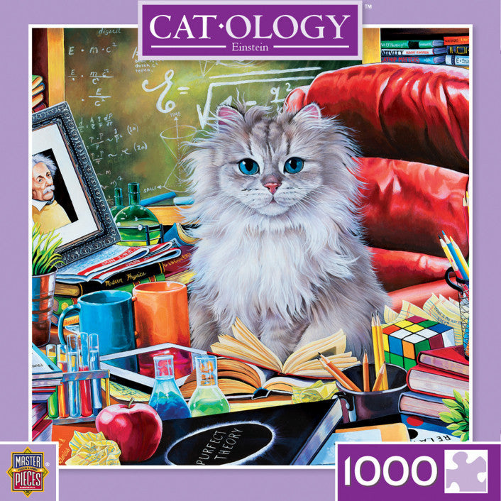 Masterpieces Cat-ology Einstein 1,000 Piece Jigsaw Puzzle - Get Puzzled