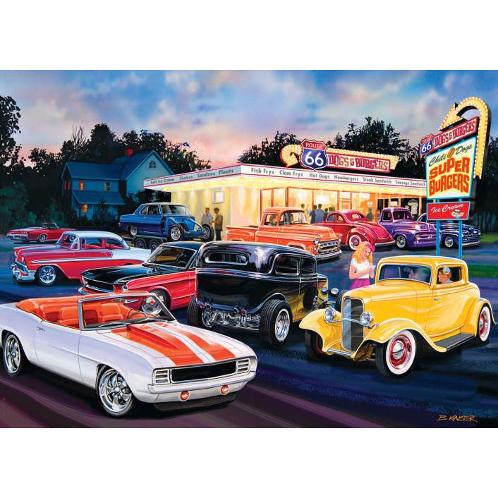 Masterpieces Cruisin Dogs and Burgers Puzzle 1000 Piece Jigsaw Puzzle - Get Puzzled