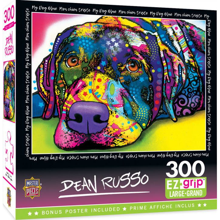 Masterpieces Dean Russo My Dog Blue Ez Grip Puzzle 300 Piece Jigsaw Puzzle - Get Puzzled