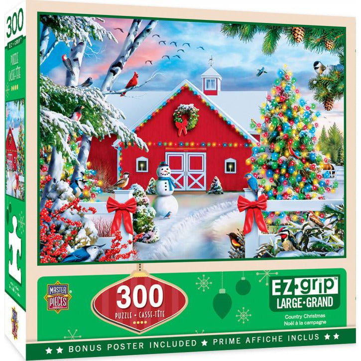 Masterpieces Holiday Country Christmas Ez Grip Puzzle 300 Piece Jigsaw Puzzle - Get Puzzled