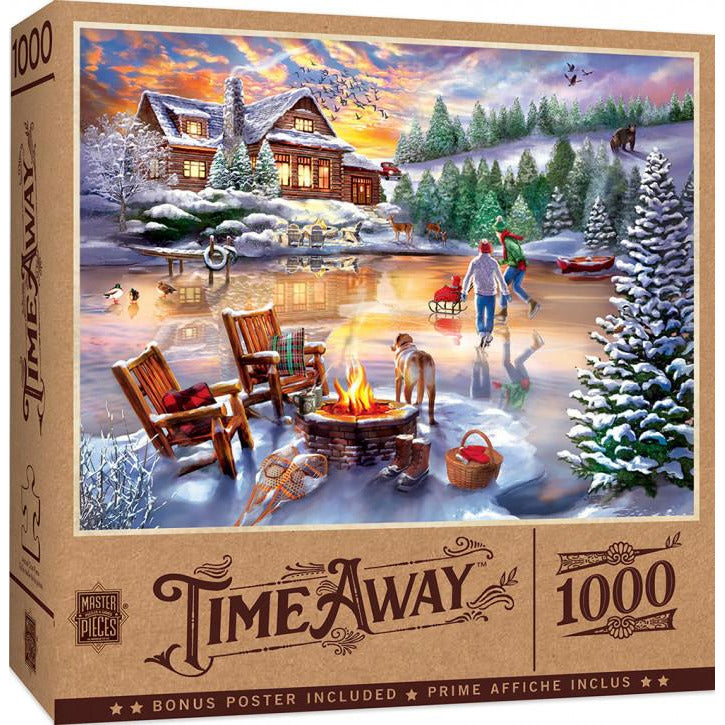Masterpieces Time Away An Evening Skate Puzzle 1000 Piece Jigsaw Puzzle - Get Puzzled