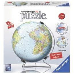Ravensburger World Globe 3D Puzzleball 540 Pieces Jigsaw Puzzle - Get Puzzled