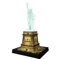 Ravensburger Statue of Liberty at Night 3D Jigsaw Puzzle 216 Pieces. - Get Puzzled