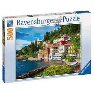 Ravensburger Lake Como Italy 500 Piece Jigsaw Puzzle - Get Puzzled