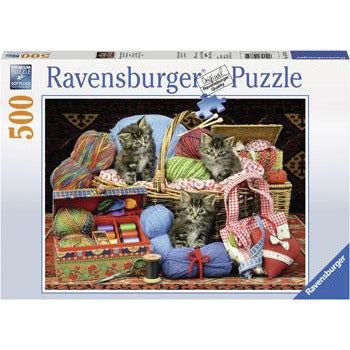 Ravensburger Fluffy Pleasure Kitten Puzzle 500 Piece Jigsaw Puzzle - Get Puzzled