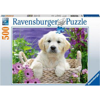 Ravensburger Sweet Golden Retriever Puzzle 500 Piece Jigsaw Puzzle - Get Puzzled