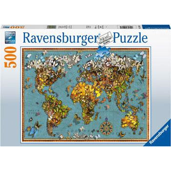 Ravensburger World of Butterflies 500 Piece Jigsaw Puzzle - Get Puzzled