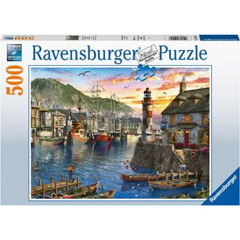 Ravensburger Sunrise at the Port 500 Piece Jigsaw Puzzle - Get Puzzled
