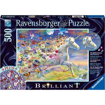 Ravensburger Unicorn and Butterflies 500 Piece Jigsaw Puzzle - Get Puzzled