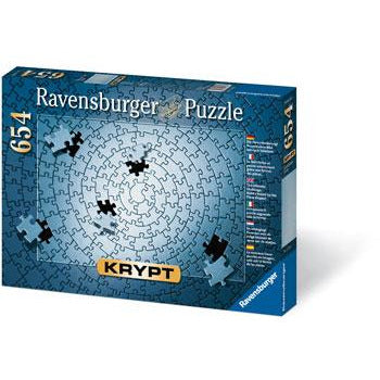 Ravensburger KRYPT Silver Spiral Puzzle 654 Piece Jigsaw Puzzle - Get Puzzled