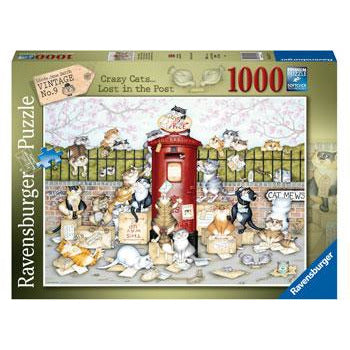 Ravensburger Crazy Cats Lots in the Post 1000 Piece Jigsaw Puzzle - Get Puzzled