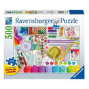 Ravensburger Needlework Station 500 Jigsaw Pieces Large Format Puzzle - Get Puzzled