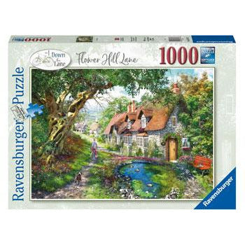 Ravensburger Flower Hill Country Cottage 1000 Piece Jigsaw Puzzle - Get Puzzled