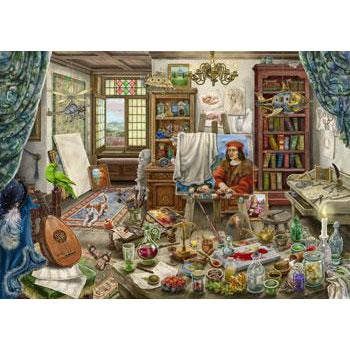 Ravensburger ESCAPE 10 The Artists Studio Escape 759 Piece Jigsaw Puzzle - Get Puzzled