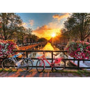 Ravensburger Bicycles in Amsterdam Puzzle 1000 Piece Jigsaw Puzzle - Get Puzzled