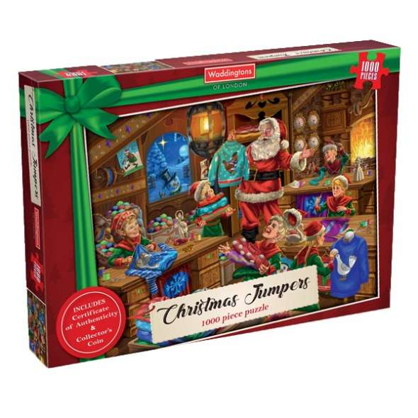 Waddingtons Christmas Jumpers Jigsaw Puzzle 1000 Pieces - Get Puzzled