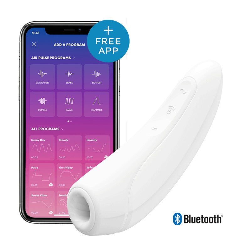 Stimulateur connecté Satisfyer Curvy 1+ - Blanc