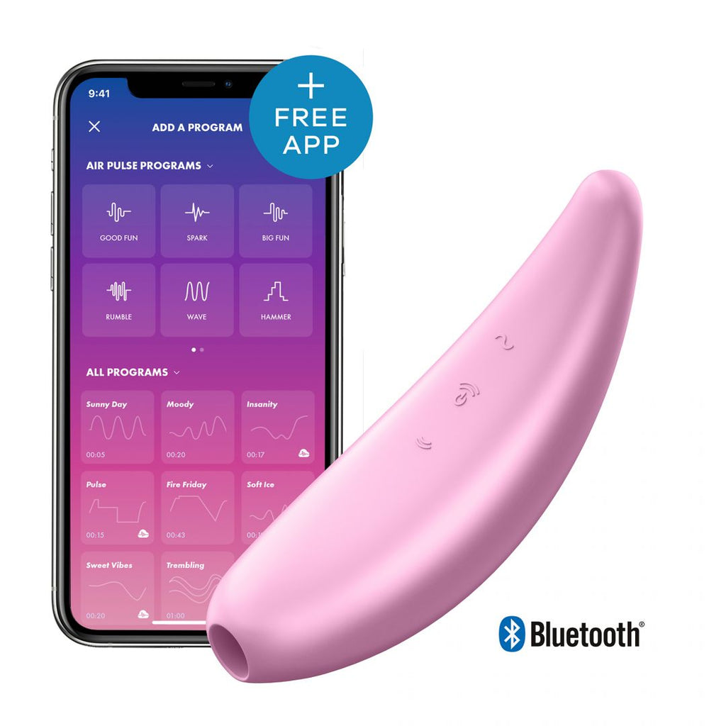 Stimulateur connecté Satisfyer Curvy 3+ - Rose