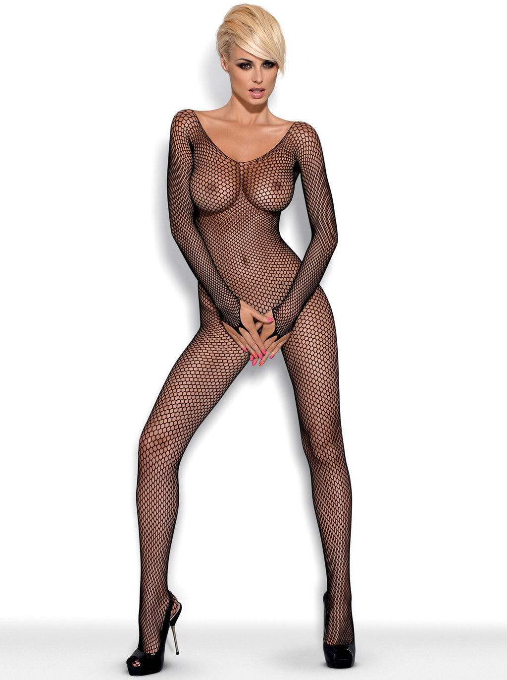 N109 Bodystocking - Black