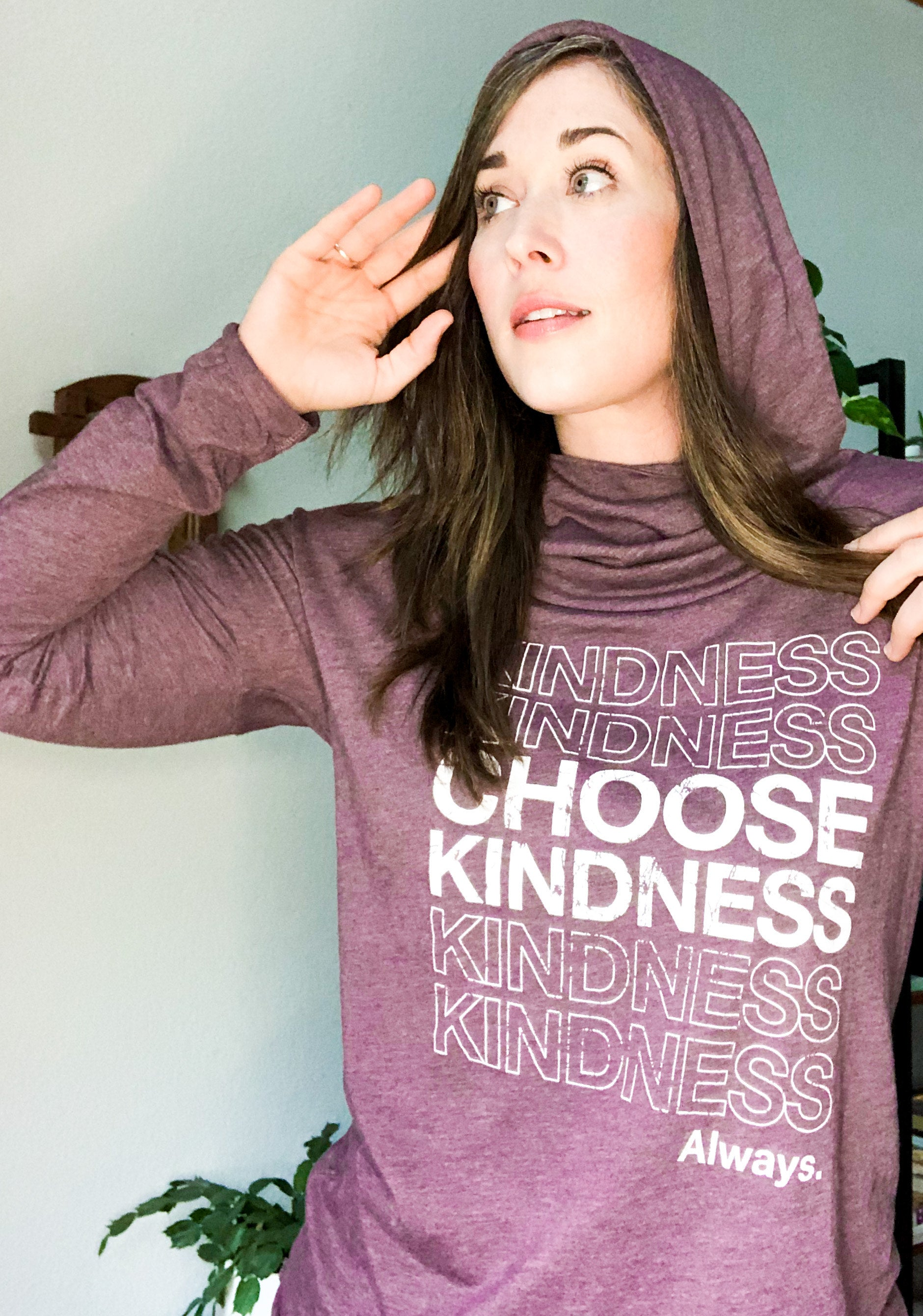 Choose Kindness Cowl Yoga Hoodie