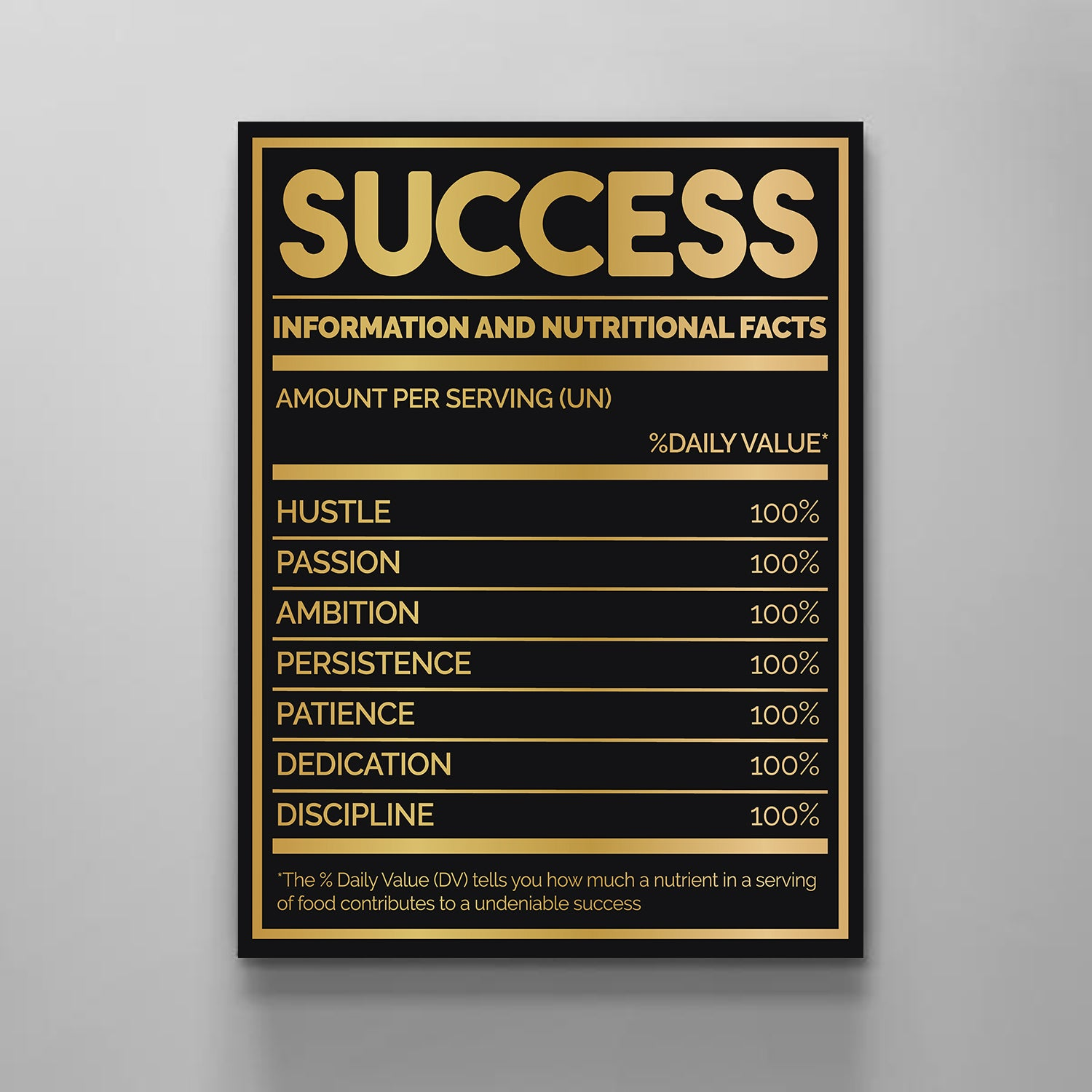 Success Nutritional Facts Gold