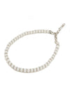 White Beads Anklet
