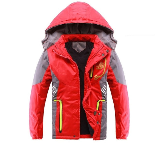 Windproof Kids Winter Jacket - TravelwithJohnny