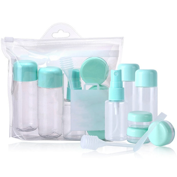 8pcs Refillable Travel Bottle Set - TravelwithJohnny