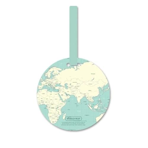 Fashion Map Luggage Tag - TravelwithJohnny