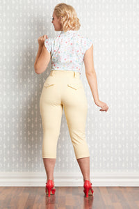 Farah Flax High Waist Capri Pants