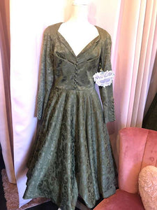 Good Woman Dress damast moss