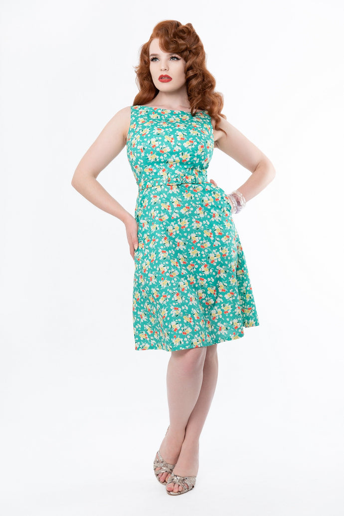 Kitty 1930s Floral Dress