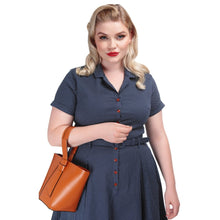 Laden Sie das Bild in den Galerie-Viewer, Caterina Mini Polka Dot Swing Dress