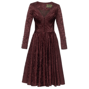 Good Woman Dress damast ruby