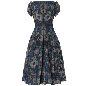 Wintergarden Dress brocade royal