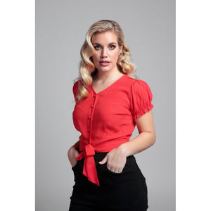 Misty Plain Blouse red