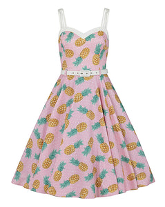 Nova Pineapple Swing Dress