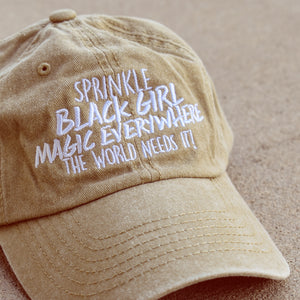 Sprinkle Black Girl Magic Dad Hat
