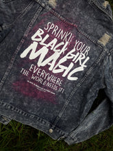 Load image into Gallery viewer, Black Girl Magic Acid Wash Denim Jacket