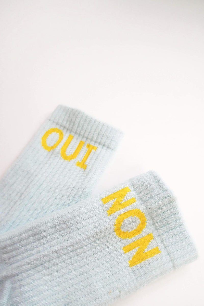 """Oui/Non"" Recycled Socks"