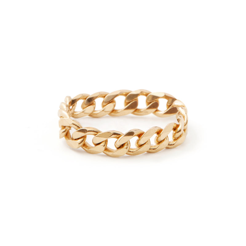 Curb Chain Ring - Gold