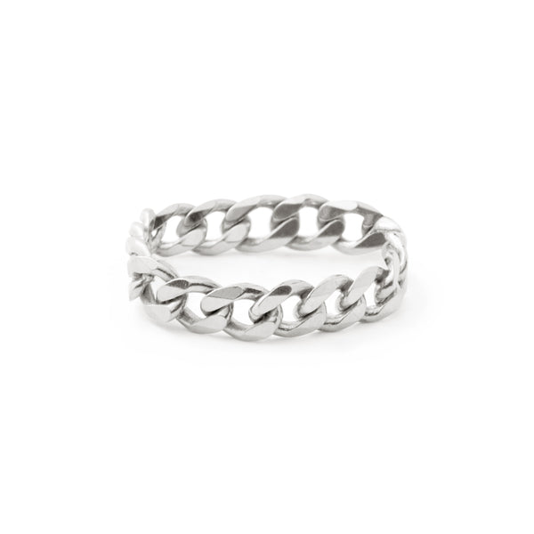 Curb Chain Ring - Silver