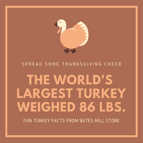 THE WORLD'S LARGEST TURKEY WEIGHED 86 LBS.